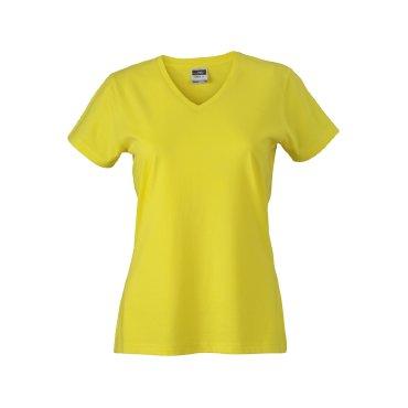 Camiseta cuello de pico ajustada mujer JN972 James Nicholson