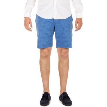 Bermuda clásica estampada azul hombre COHEN CAPITAN DENIM - WATUSI